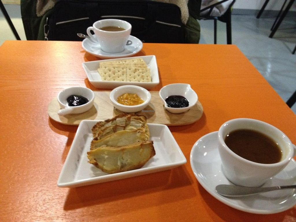 """Photo of Inno Jam Jam - 카페 이노  by <a href=""""/members/profile/Emomeow"""">Emomeow</a> <br/>Korean raspberry jam, mandarin jam, mulberry jam, vegan crackers, roasted sweet potato, ginseng date tea, ginger date tea <br/> January 26, 2016  - <a href='/contact/abuse/image/68824/133820'>Report</a>"""