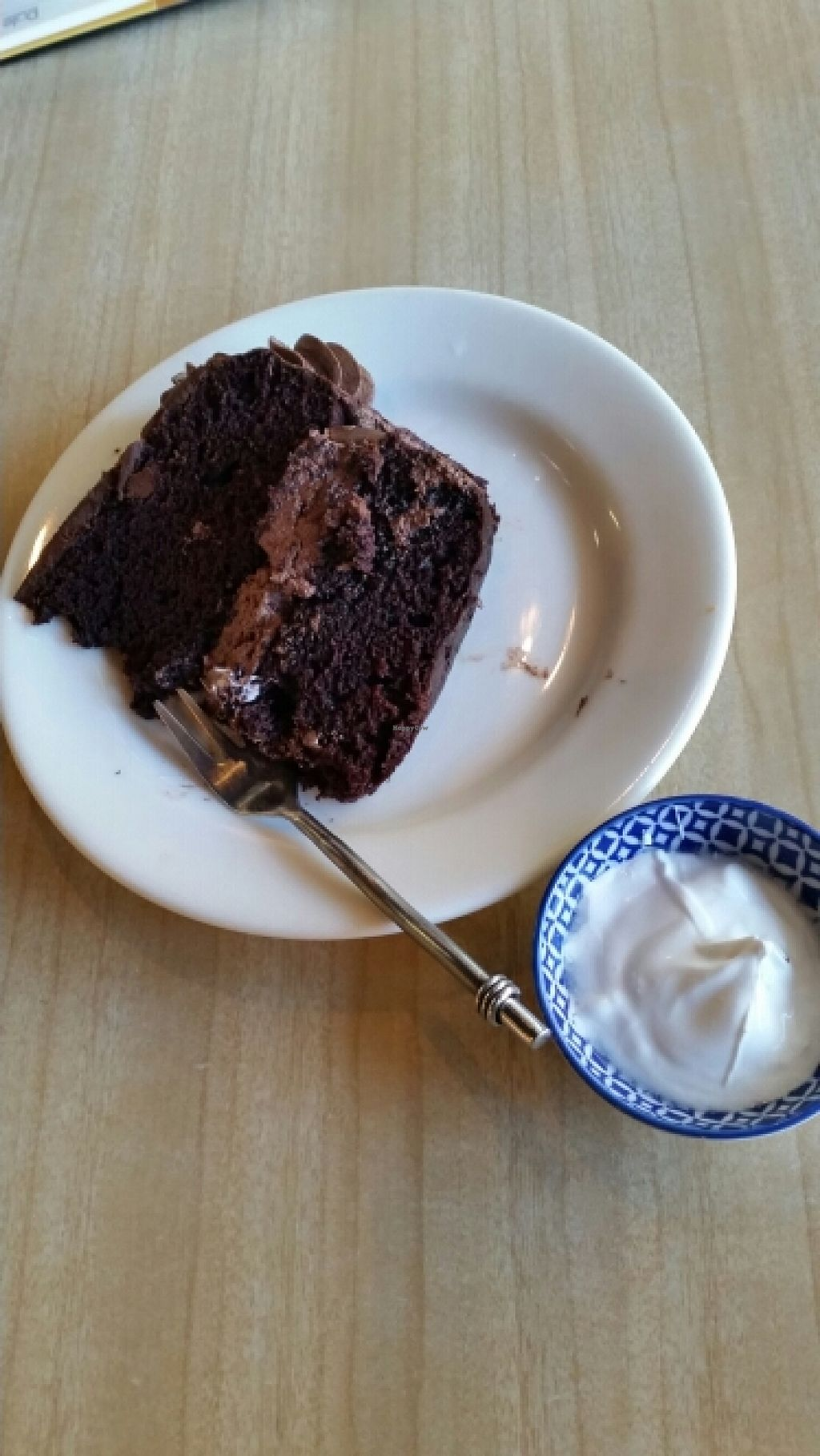 """Photo of Ritual Coffee Company  by <a href=""""/members/profile/AndyTheVWDude"""">AndyTheVWDude</a> <br/>Vegan chocolate cake & coconut yoghurt <br/> April 19, 2016  - <a href='/contact/abuse/image/68847/145381'>Report</a>"""