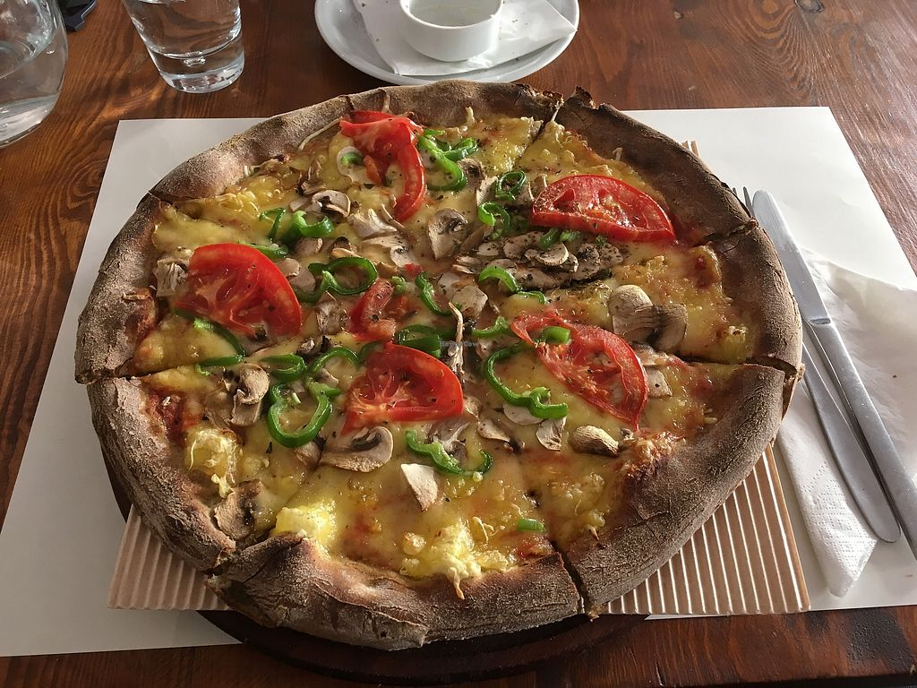 """Photo of Mystic Pizza - Ferekydou  by <a href=""""/members/profile/Alina%26Deian"""">Alina&Deian</a> <br/>Vegan simple pizza <br/> November 30, 2017  - <a href='/contact/abuse/image/68852/330784'>Report</a>"""
