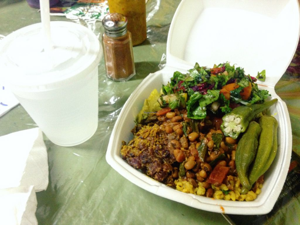 """Photo of Roots Reggae Vegetarian Cafe  by <a href=""""/members/profile/Cjlelliott"""">Cjlelliott</a> <br/>we asked to try a little of everything, being hungry and vegan and was met with the friendliest most accommodating reception ever. thank you :) <br/> July 3, 2016  - <a href='/contact/abuse/image/68862/157611'>Report</a>"""