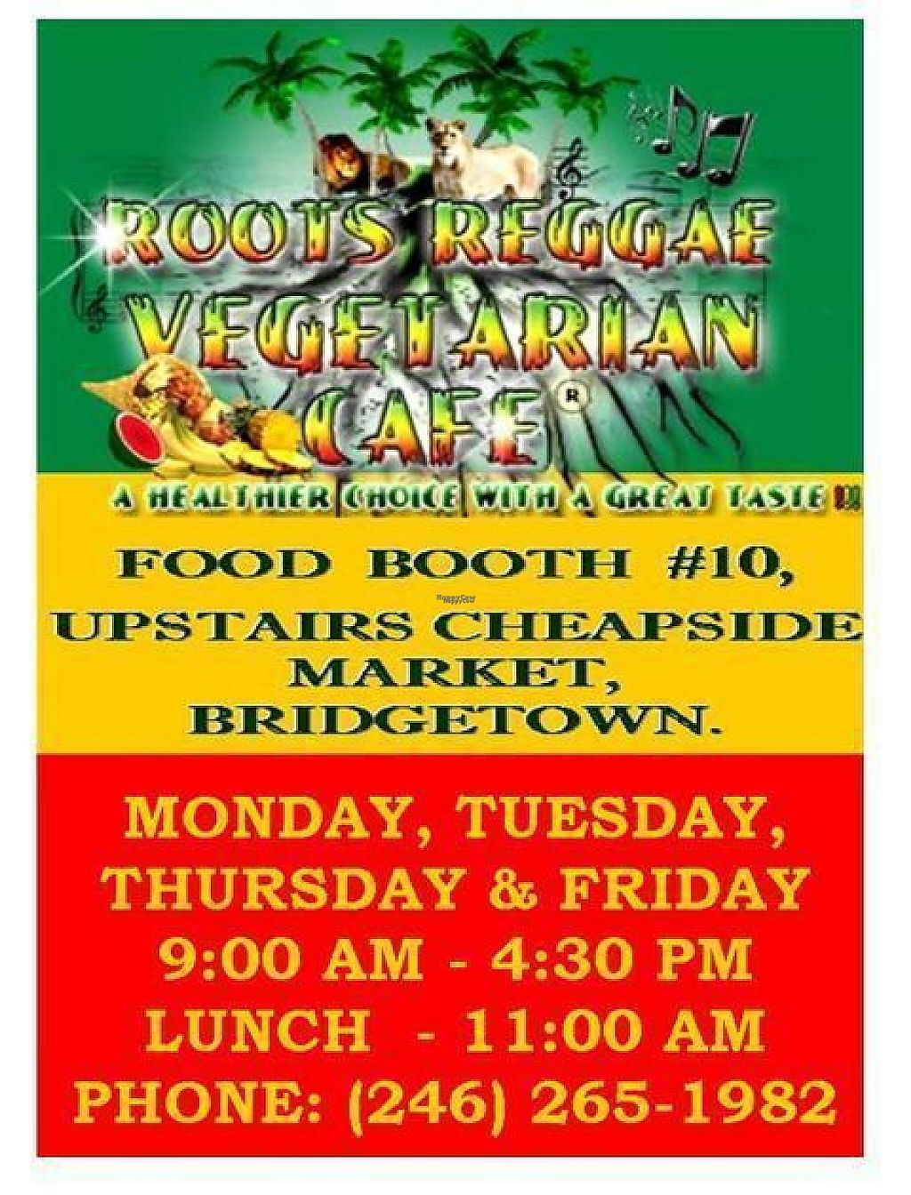 """Photo of Roots Reggae Vegetarian Cafe  by <a href=""""/members/profile/RootsReggae"""">RootsReggae</a> <br/>ROOTS REGGAE VEGETARIAN CAFE  <br/> April 19, 2017  - <a href='/contact/abuse/image/68862/249786'>Report</a>"""