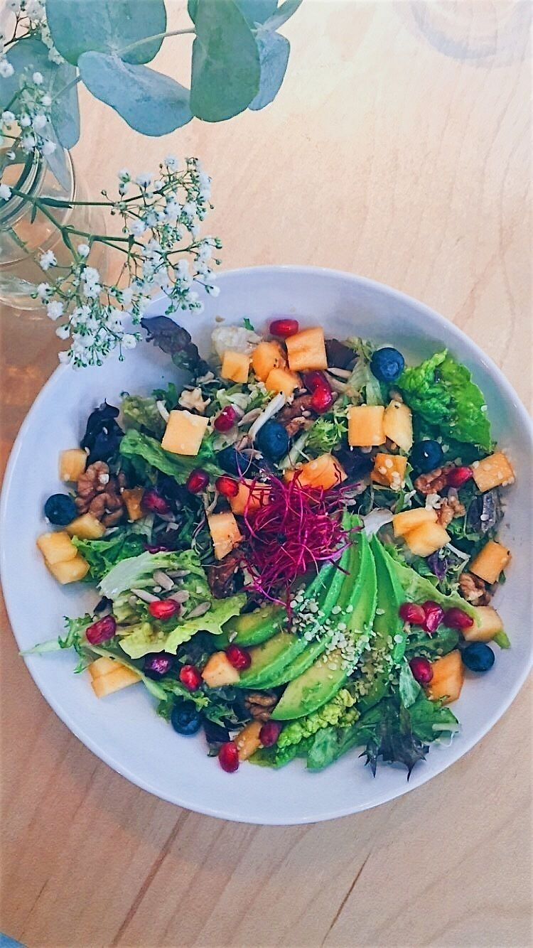"""Photo of Happy Earth  by <a href=""""/members/profile/Happy%20Earth%20Kitchen"""">Happy Earth Kitchen</a> <br/>Eat the Rainbow Salad <br/> February 5, 2018  - <a href='/contact/abuse/image/68882/355340'>Report</a>"""