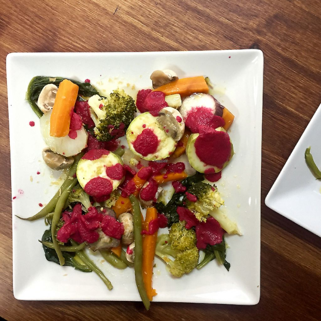 """Photo of VA De BO  by <a href=""""/members/profile/Borcher"""">Borcher</a> <br/>veggie plate with beetroot sauce - absolutely lovely <br/> September 20, 2016  - <a href='/contact/abuse/image/68889/209615'>Report</a>"""