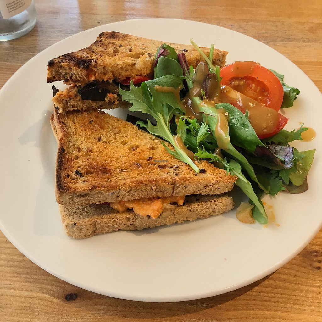 """Photo of The Garden Cafe  by <a href=""""/members/profile/ClareKnighton"""">ClareKnighton</a> <br/>Hummus and roasted veg toastie <br/> September 28, 2017  - <a href='/contact/abuse/image/6888/309421'>Report</a>"""