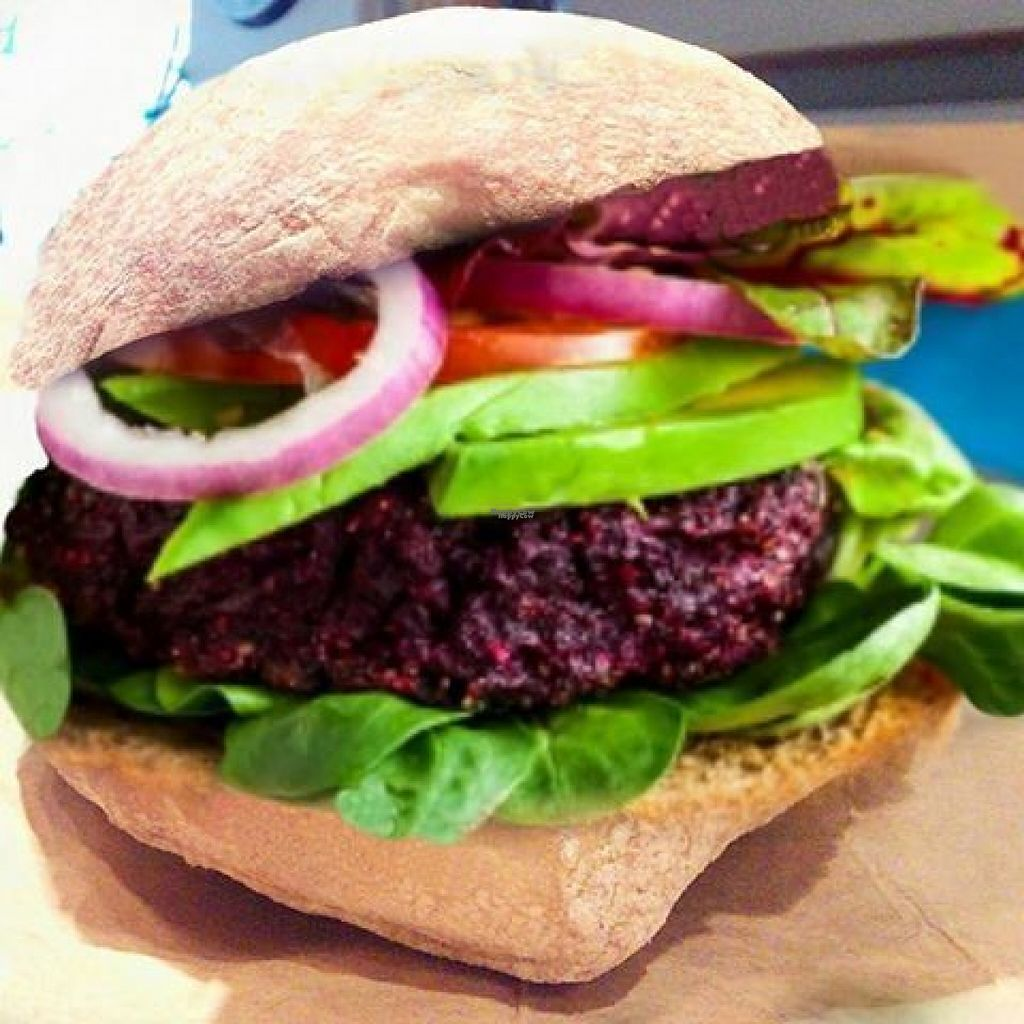 """Photo of BJ's Burger Joint & Juice Bar  by <a href=""""/members/profile/Meaks"""">Meaks</a> <br/>Beetroot Burger <br/> August 1, 2016  - <a href='/contact/abuse/image/68907/164377'>Report</a>"""