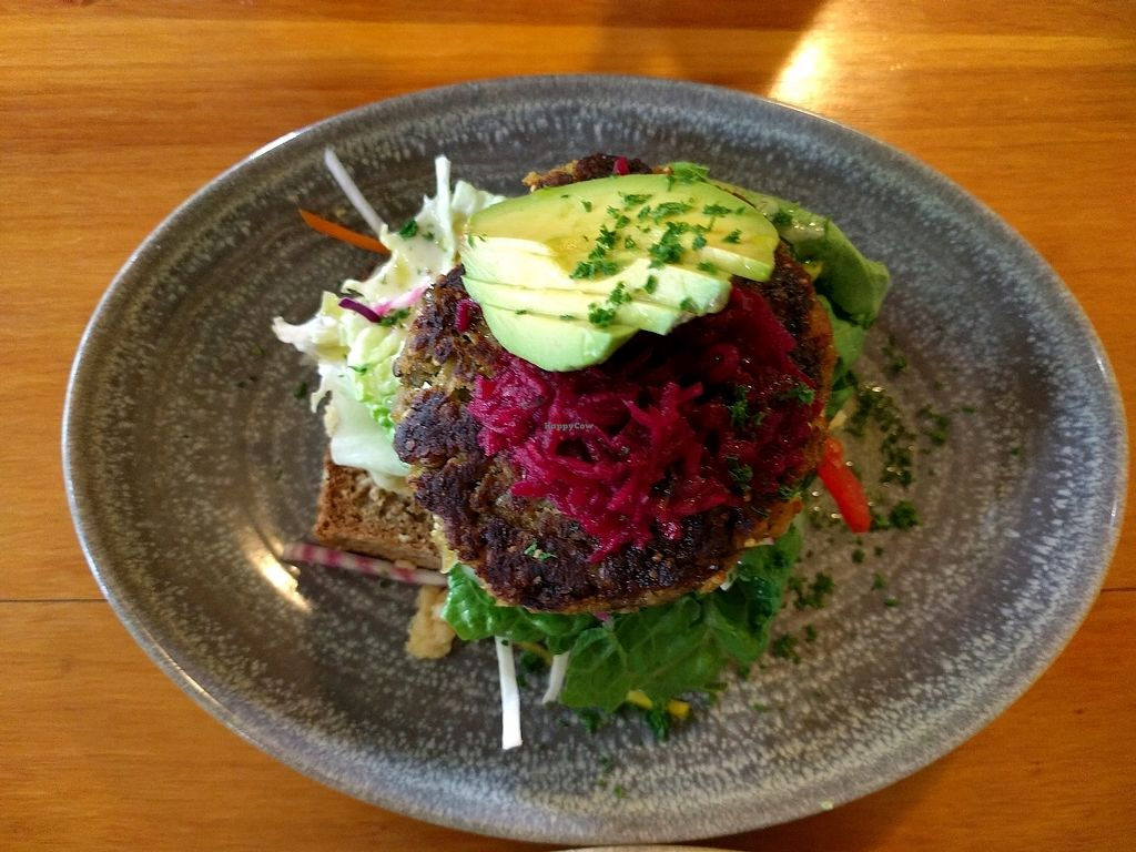 """Photo of Hislop's Cafe  by <a href=""""/members/profile/avs443"""">avs443</a> <br/>falafel burger stack  <br/> February 23, 2018  - <a href='/contact/abuse/image/6890/362911'>Report</a>"""