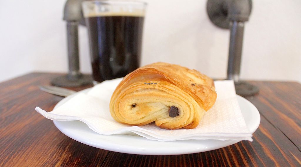 "Photo of The Pitted Date  by <a href=""/members/profile/Kimm.mc"">Kimm.mc</a> <br/>Vegan chocolate croissant  <br/> September 15, 2017  - <a href='/contact/abuse/image/68915/304844'>Report</a>"