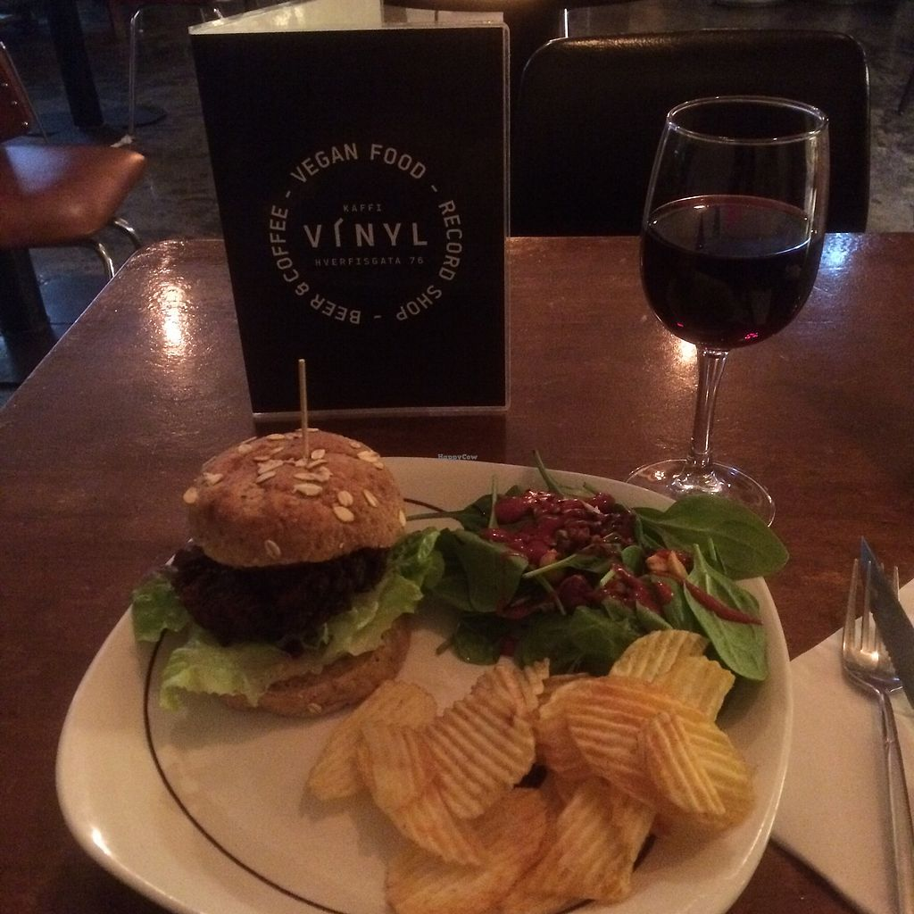 """Photo of Kaffi Vinyl  by <a href=""""/members/profile/Cammiesen"""">Cammiesen</a> <br/>Delicious black bean and quinoa burger  <br/> November 13, 2017  - <a href='/contact/abuse/image/68917/325136'>Report</a>"""