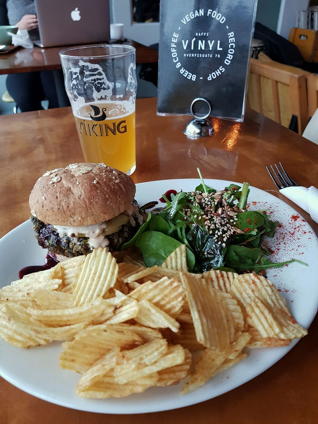 """Photo of Kaffi Vinyl  by <a href=""""/members/profile/Jan045"""">Jan045</a> <br/>bean and quinoa burger <br/> March 18, 2018  - <a href='/contact/abuse/image/68917/372473'>Report</a>"""