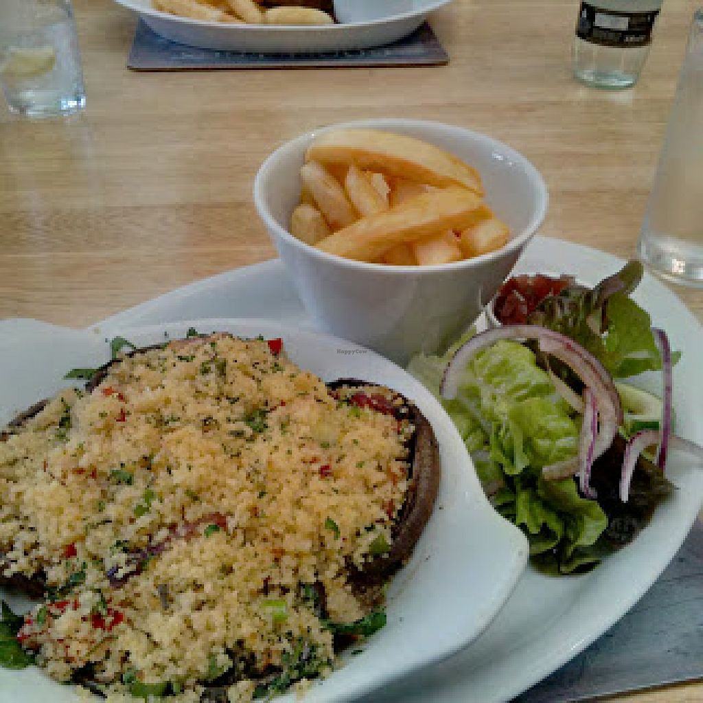 """Photo of Bashall Barn Visitor Centre  by <a href=""""/members/profile/Veganolive1"""">Veganolive1</a> <br/>Stuffed Mushrooms <br/> January 29, 2016  - <a href='/contact/abuse/image/68936/134104'>Report</a>"""