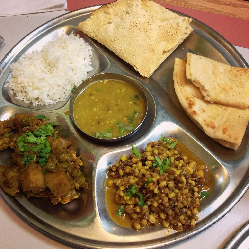 """Photo of Swad Vegetarian Indian  by <a href=""""/members/profile/halfthejob"""">halfthejob</a> <br/>Thali plate <br/> May 5, 2015  - <a href='/contact/abuse/image/6895/101327'>Report</a>"""