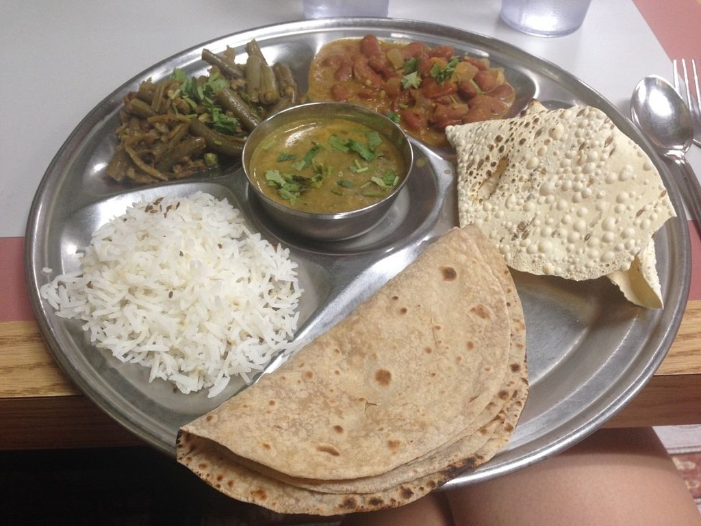 """Photo of Swad Vegetarian Indian  by <a href=""""/members/profile/almwyo"""">almwyo</a> <br/>Vegan Thali  <br/> September 15, 2016  - <a href='/contact/abuse/image/6895/175995'>Report</a>"""