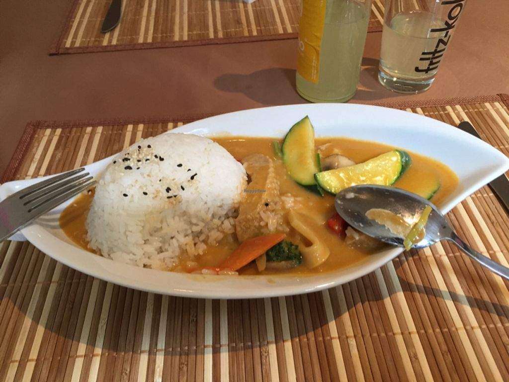 """Photo of Loving Hut - St Georg  by <a href=""""/members/profile/Bustabanana"""">Bustabanana</a> <br/>Soja Vleisch Curry! sehr lecker <br/> April 22, 2016  - <a href='/contact/abuse/image/69030/145660'>Report</a>"""