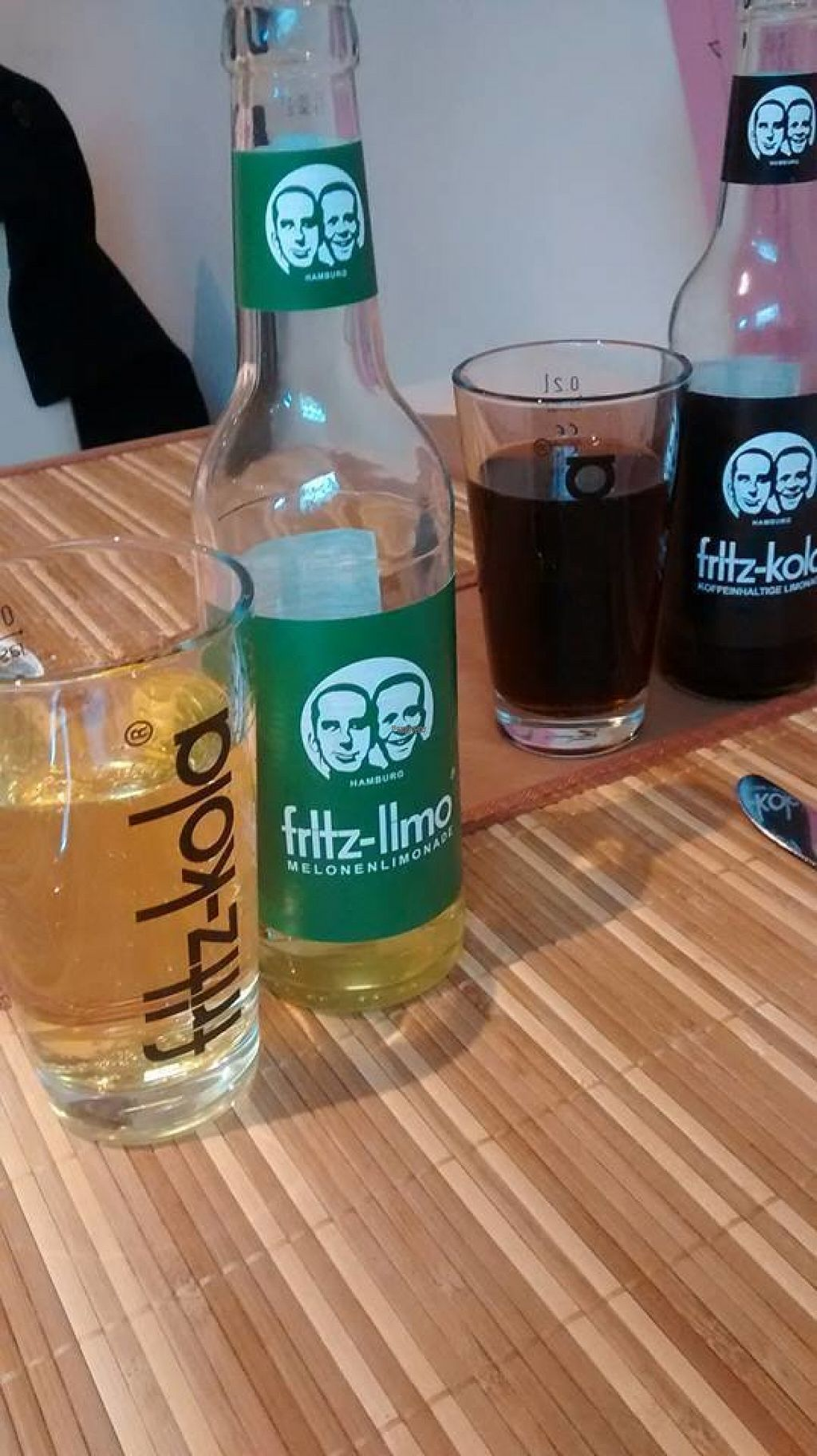 """Photo of Loving Hut - St Georg  by <a href=""""/members/profile/BlisterBlue"""">BlisterBlue</a> <br/>Fritz-Cola and Fritz-Melon, a must in Hamburg! <br/> November 2, 2016  - <a href='/contact/abuse/image/69030/186112'>Report</a>"""