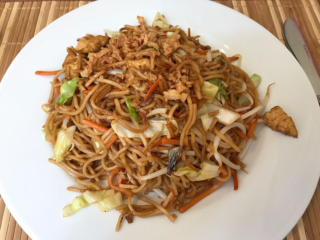 """Photo of Loving Hut - St Georg  by <a href=""""/members/profile/LenaS"""">LenaS</a> <br/>Noodles with tofu and vegetables <br/> July 20, 2017  - <a href='/contact/abuse/image/69030/282404'>Report</a>"""