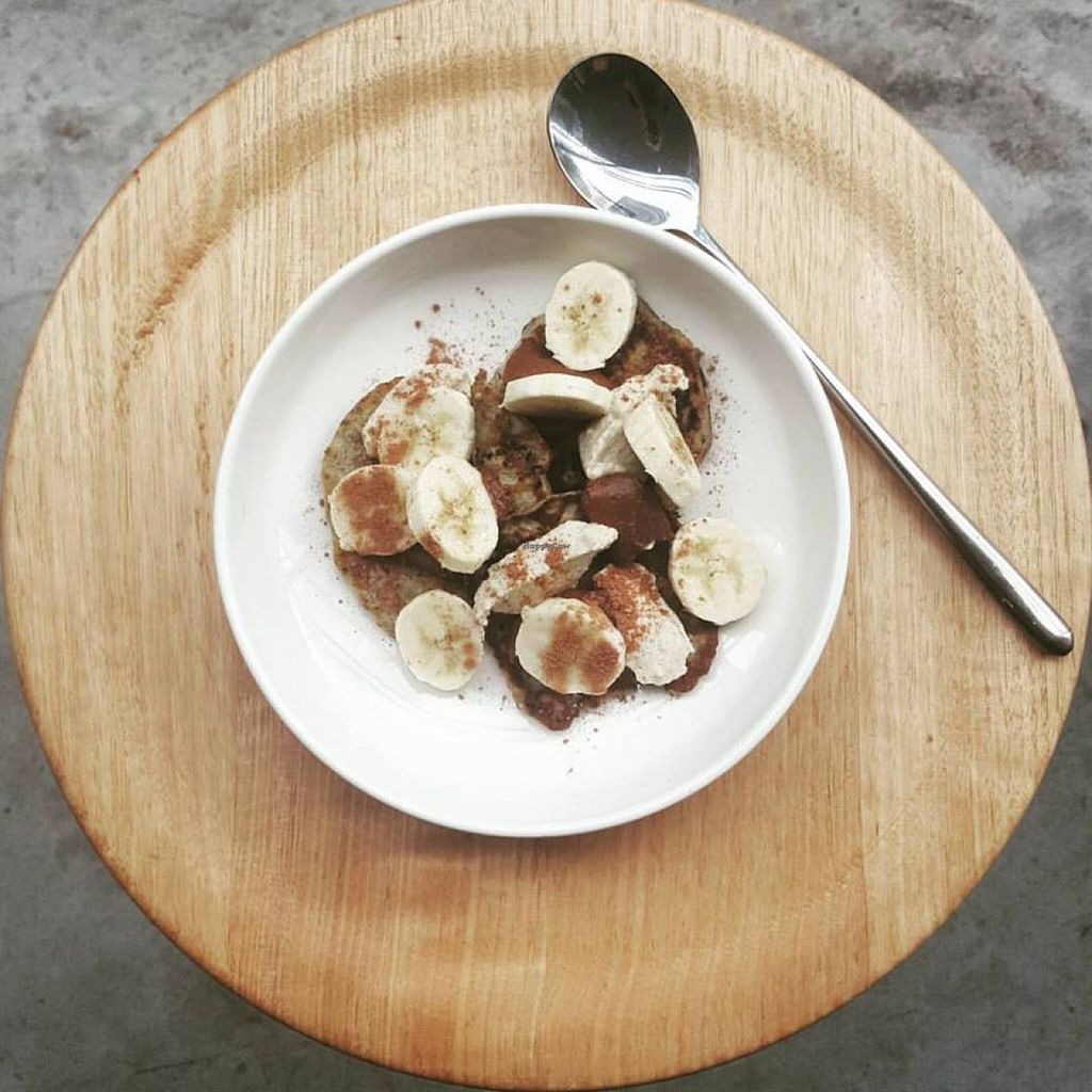 """Photo of Tasmania Juice Press  by <a href=""""/members/profile/community"""">community</a> <br/>banana, chia and cacao pancakes <br/> February 9, 2016  - <a href='/contact/abuse/image/69066/135537'>Report</a>"""