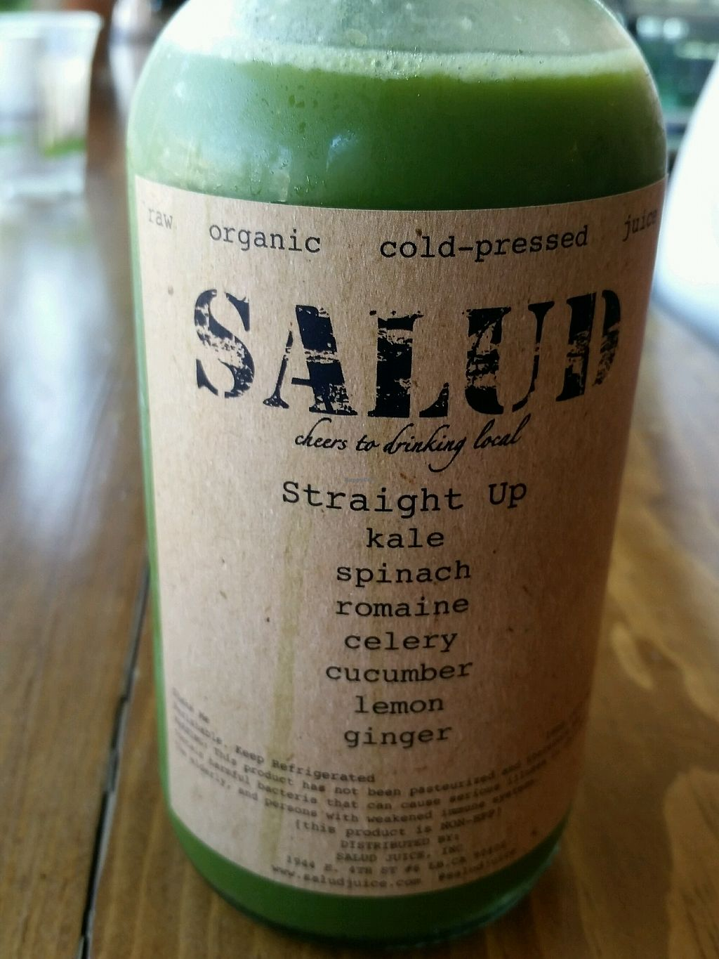 """Photo of Salud Juice - 4th St  by <a href=""""/members/profile/eric"""">eric</a> <br/>straight up juice <br/> September 9, 2017  - <a href='/contact/abuse/image/69083/302714'>Report</a>"""