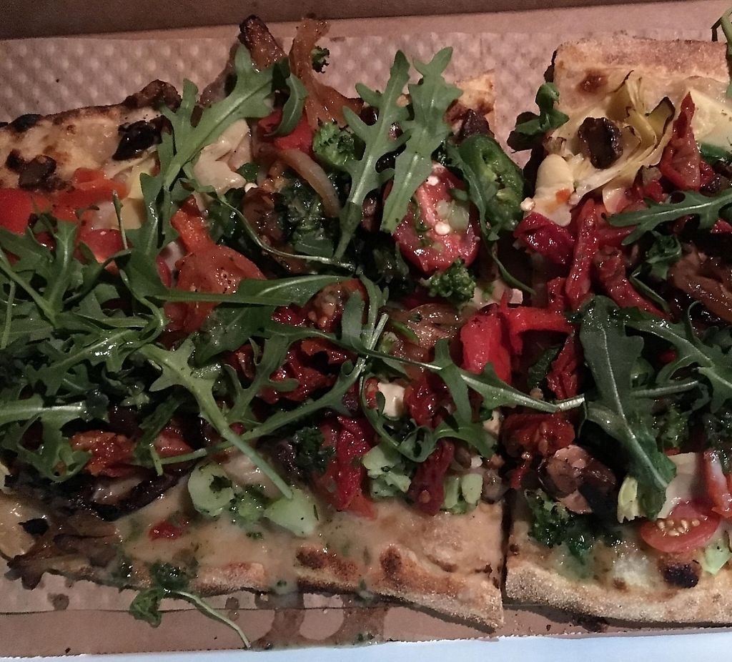 "Photo of &pizza  by <a href=""/members/profile/cookiem"">cookiem</a> <br/>Vegan cheese-less by choice pizza (they have Daiya!) <br/> February 28, 2016  - <a href='/contact/abuse/image/69101/202117'>Report</a>"