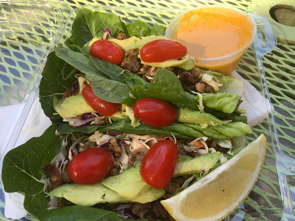 "Photo of The Juice Lab 360  by <a href=""/members/profile/animalattorney"">animalattorney</a> <br/>Chorizo  Tacos (raw made with walnuts) <br/> October 29, 2017  - <a href='/contact/abuse/image/69104/319967'>Report</a>"