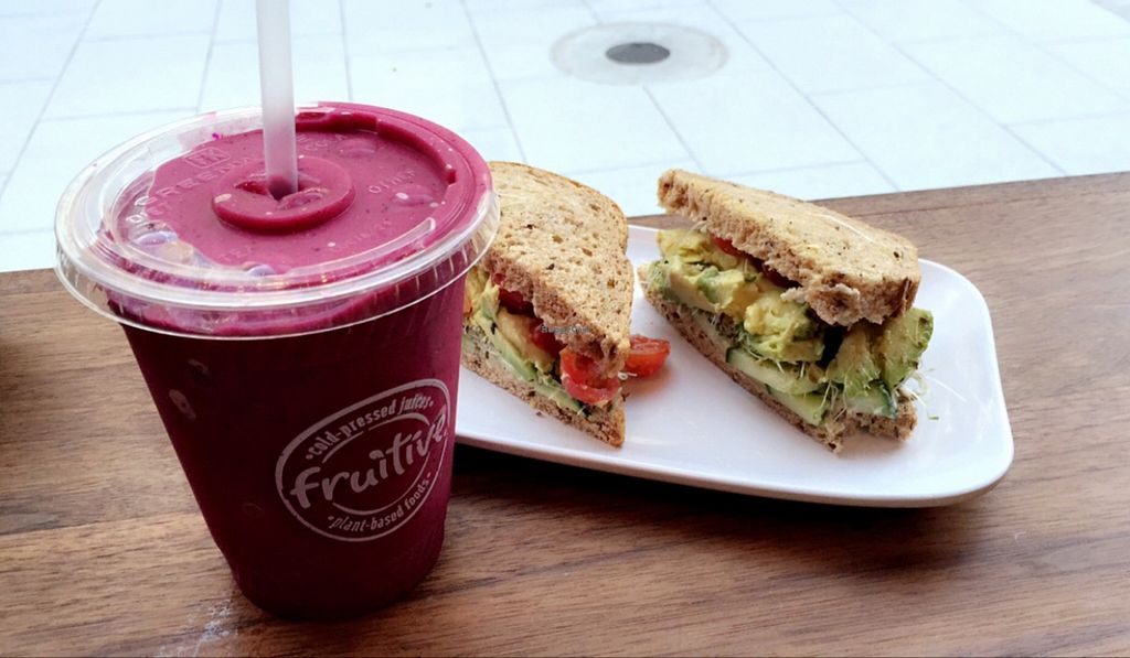 """Photo of Fruitive  by <a href=""""/members/profile/veggiegirl1414"""">veggiegirl1414</a> <br/>Avo sandwich and smoothie  <br/> May 18, 2016  - <a href='/contact/abuse/image/69107/149680'>Report</a>"""
