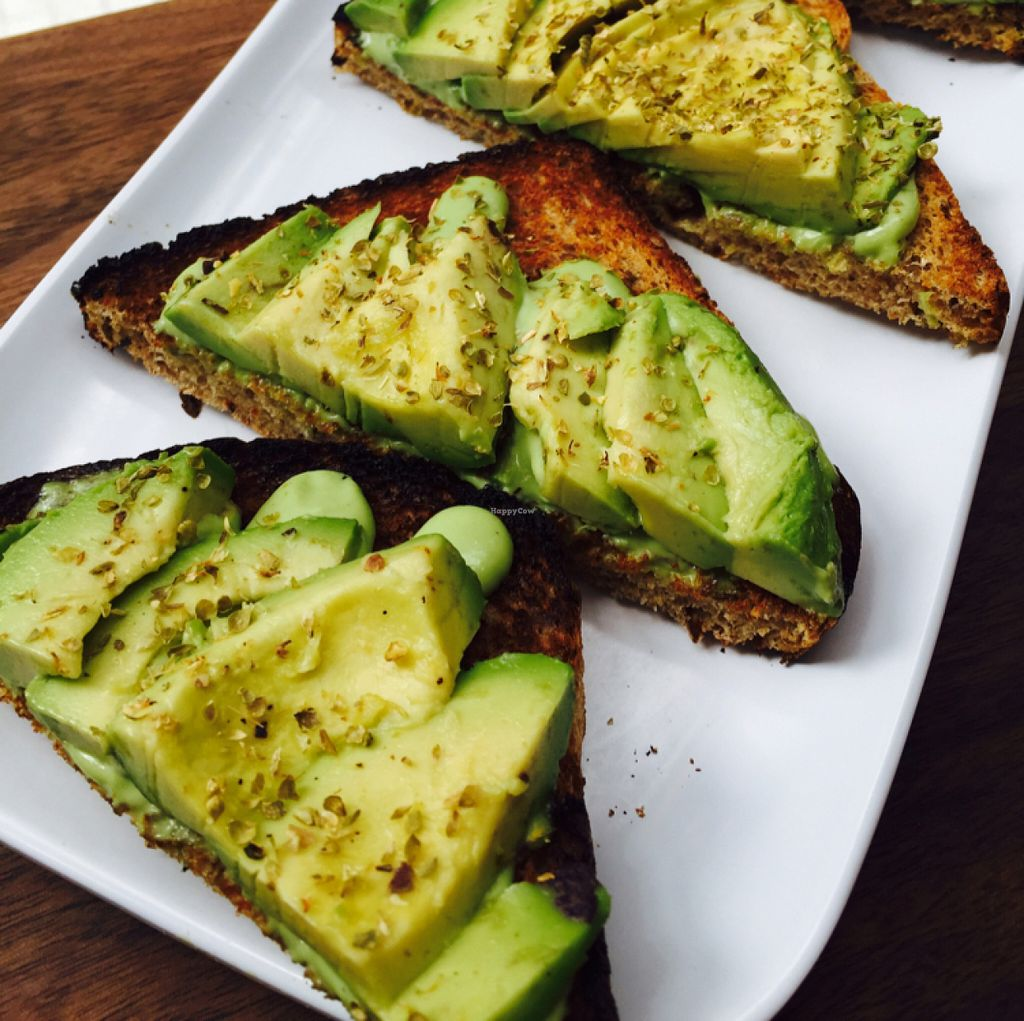 """Photo of Fruitive  by <a href=""""/members/profile/MelHeinrich"""">MelHeinrich</a> <br/>delicious avo toast on herb bread  <br/> May 31, 2016  - <a href='/contact/abuse/image/69107/151472'>Report</a>"""