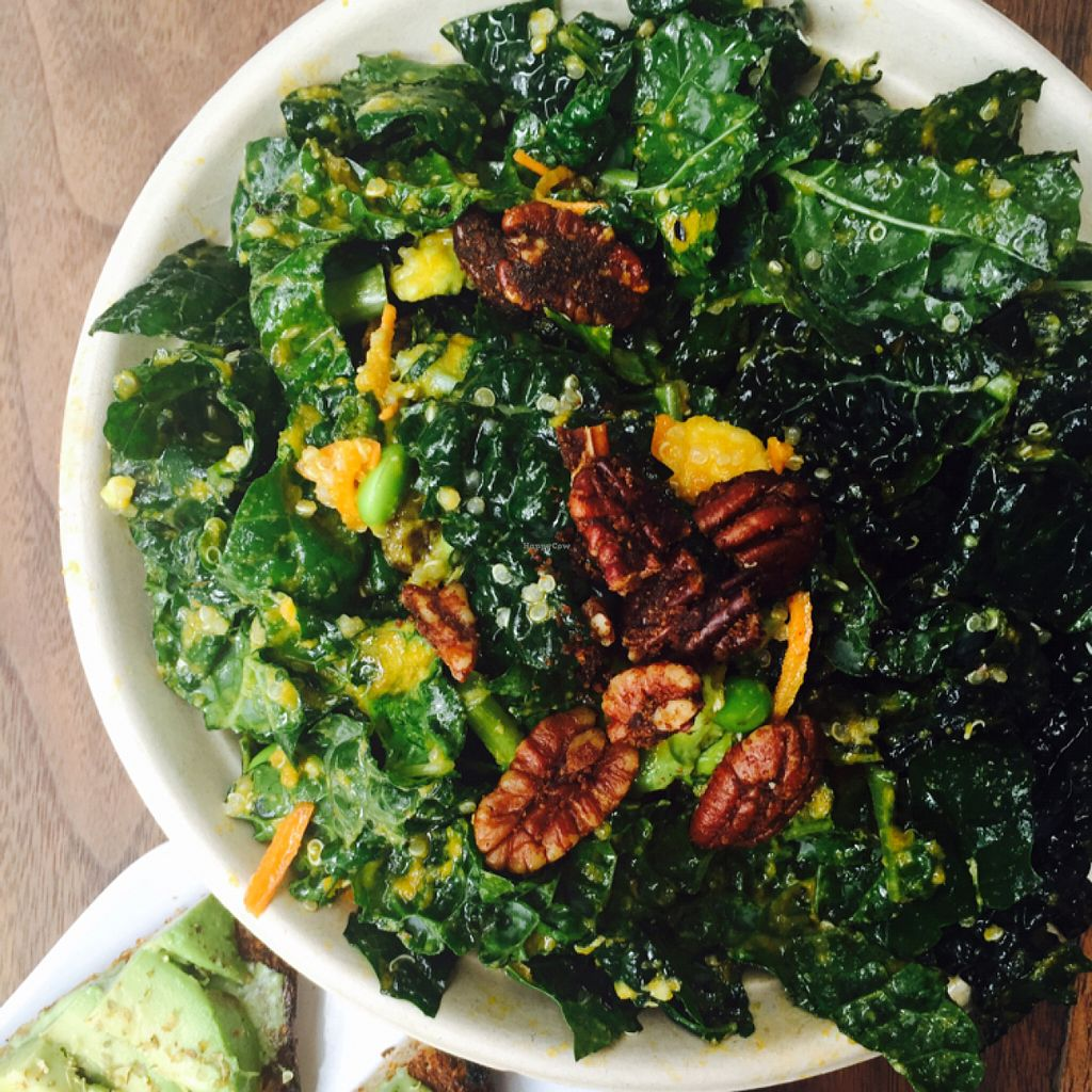 """Photo of Fruitive  by <a href=""""/members/profile/MelHeinrich"""">MelHeinrich</a> <br/>amazing kale salad! perfect for that iron hit  <br/> May 31, 2016  - <a href='/contact/abuse/image/69107/151473'>Report</a>"""