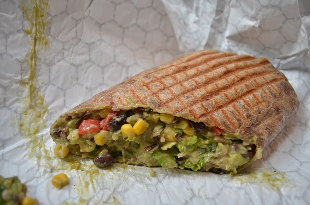 """Photo of Fruitive  by <a href=""""/members/profile/alexandra_vegan"""">alexandra_vegan</a> <br/>Southwestern wrap (black beans, corn, avocado, tomatoes) - average but huge <br/> June 7, 2016  - <a href='/contact/abuse/image/69107/152656'>Report</a>"""