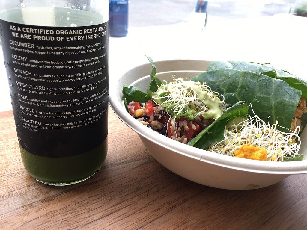 """Photo of Fruitive  by <a href=""""/members/profile/fbatzer%40gmail.com"""">fbatzer@gmail.com</a> <br/>Vegan Tacos and green juice ? <br/> September 26, 2017  - <a href='/contact/abuse/image/69107/308795'>Report</a>"""