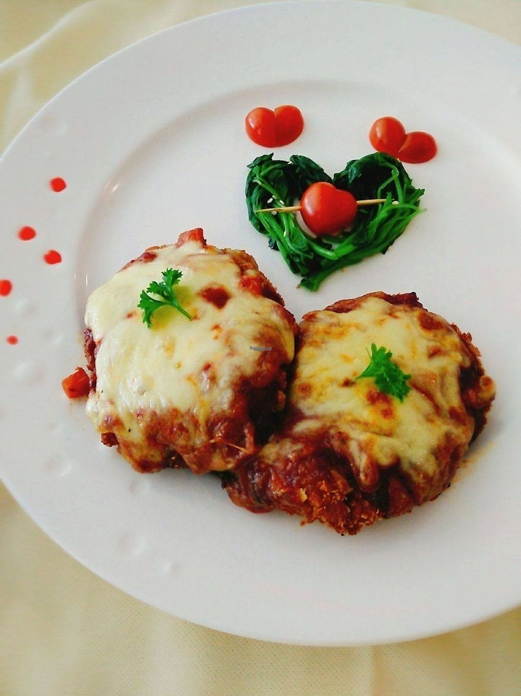 """Photo of Fresh Moment - maybe closed  by <a href=""""/members/profile/happyin"""">happyin</a> <br/>Valentine Special~super lovely~ Baked Mushroom Chop With Parmigiana  <br/> February 10, 2017  - <a href='/contact/abuse/image/69112/224970'>Report</a>"""