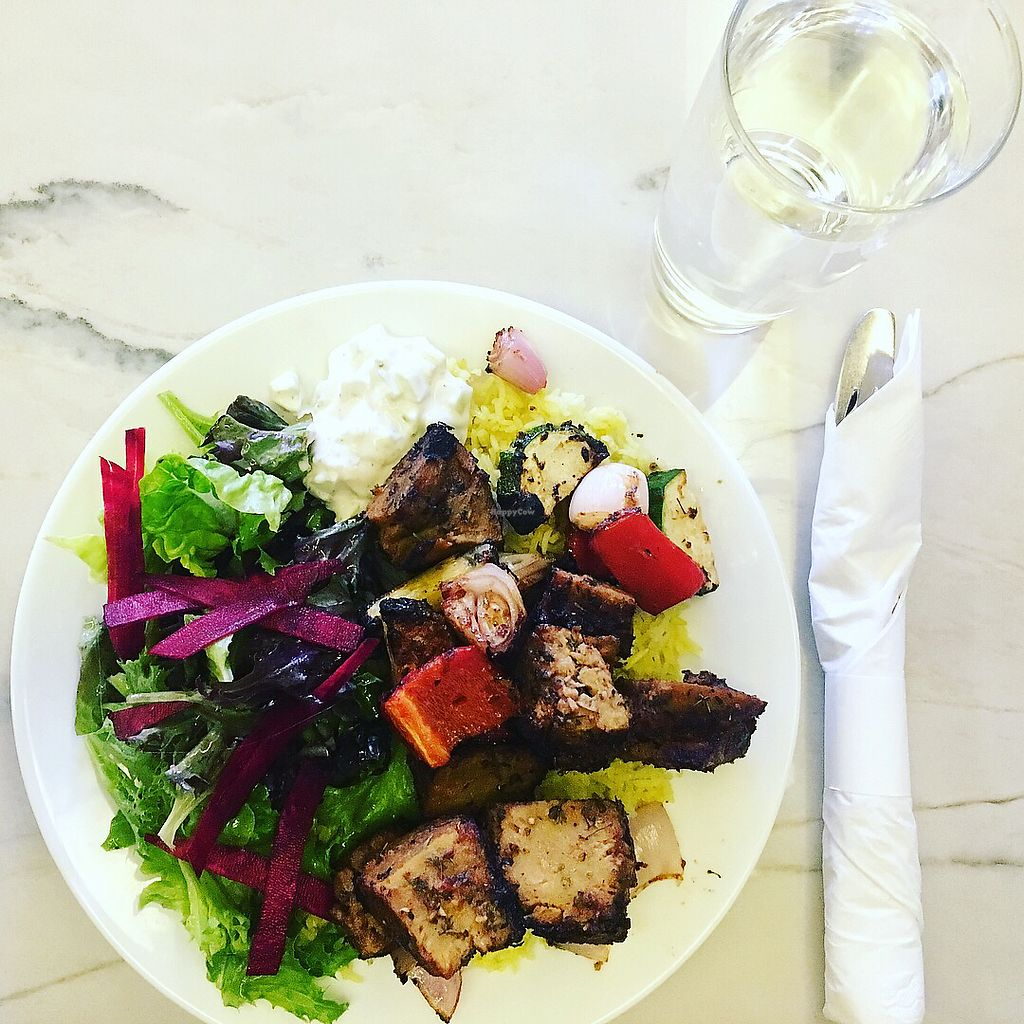 """Photo of B52 Cafe  by <a href=""""/members/profile/ShelbieMoser"""">ShelbieMoser</a> <br/>Kabob w/seitan  <br/> September 18, 2017  - <a href='/contact/abuse/image/69126/305690'>Report</a>"""