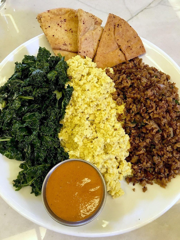 "Photo of B52 Cafe  by <a href=""/members/profile/ecoRDN"">ecoRDN</a> <br/>Kofta Tofu Scramble, B52 Pittsburgh - Photo By: ecoRDN - ecoRDN.com <br/> February 23, 2018  - <a href='/contact/abuse/image/69126/362892'>Report</a>"