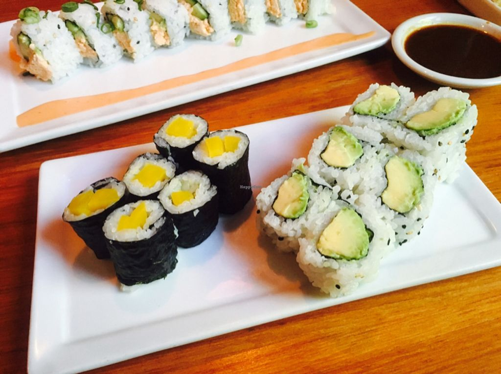 "Photo of Kabuki  by <a href=""/members/profile/amymylove"">amymylove</a> <br/>Osinko Roll (Yellow pickled radish) and Avocado Roll - The avocado rolls here are he best I've had! <br/> February 3, 2016  - <a href='/contact/abuse/image/69154/134836'>Report</a>"