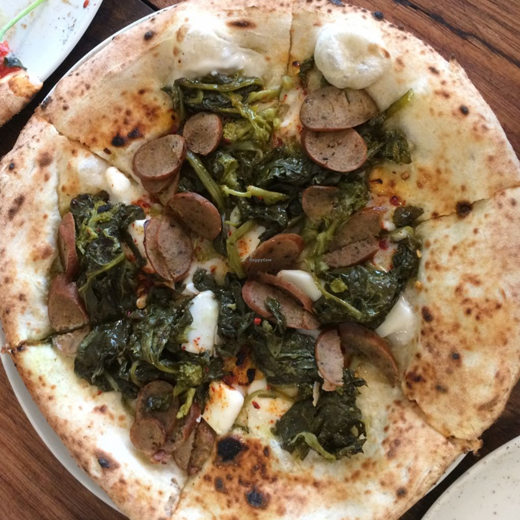 "Photo of Shop 225 Pizzeria  by <a href=""/members/profile/kateoc"">kateoc</a> <br/>vegan wild broccoli and sausage pizza (not off menu) <br/> February 3, 2016  - <a href='/contact/abuse/image/69161/134889'>Report</a>"