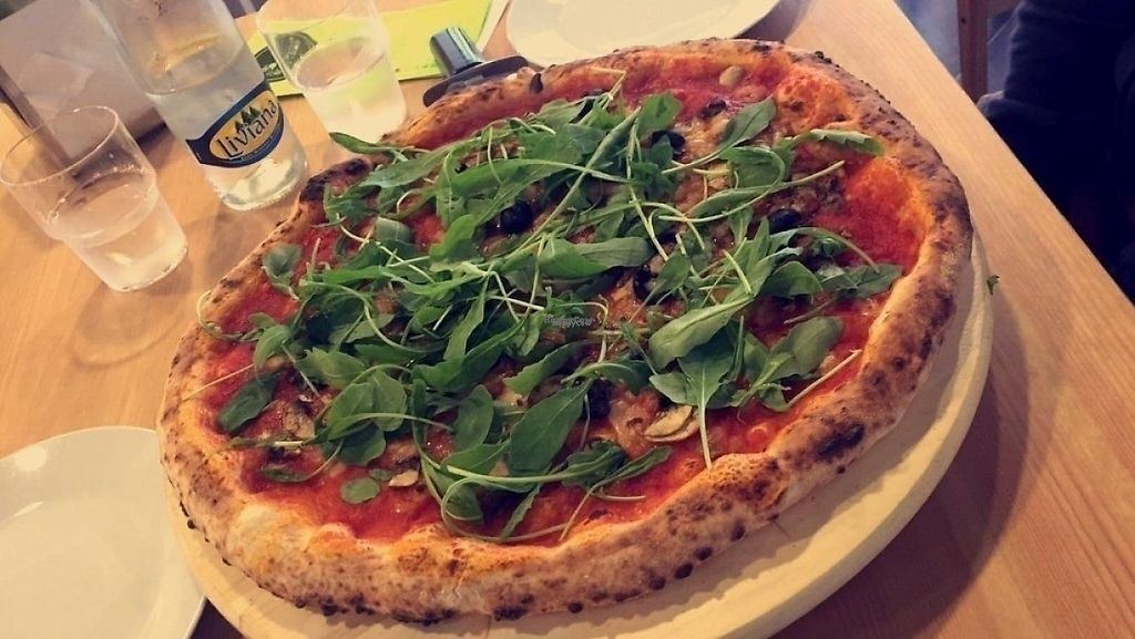 """Photo of Mano a Mano  by <a href=""""/members/profile/kate.sugak"""">kate.sugak</a> <br/>Vegan pizza <br/> October 21, 2016  - <a href='/contact/abuse/image/69164/209773'>Report</a>"""