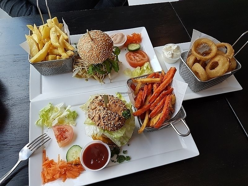 """Photo of Flooh's  by <a href=""""/members/profile/TrudiBruges"""">TrudiBruges</a> <br/>burgers and onion rings <br/> December 19, 2017  - <a href='/contact/abuse/image/69178/337245'>Report</a>"""