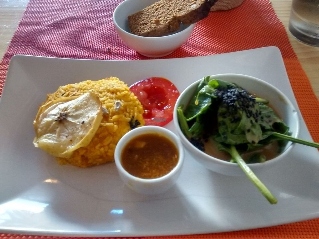 """Photo of CLOSED: Awa Viva - Biofood  by <a href=""""/members/profile/LeFunks"""">LeFunks</a> <br/>Main course: vegan rice + seaweed burger <br/> November 7, 2016  - <a href='/contact/abuse/image/69185/187213'>Report</a>"""