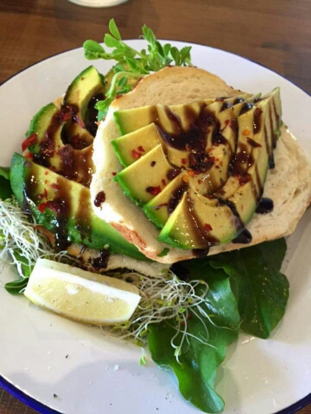 """Photo of Bonta Vera  by <a href=""""/members/profile/JohnTheVegan"""">JohnTheVegan</a> <br/>Avocado on Toast <br/> April 10, 2016  - <a href='/contact/abuse/image/69201/143849'>Report</a>"""