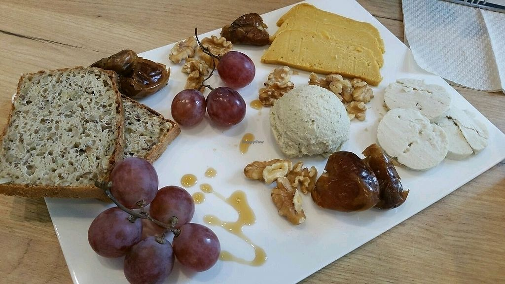 """Photo of SUE  by <a href=""""/members/profile/mostlyvegan75"""">mostlyvegan75</a> <br/>Vegan cheese platter <br/> November 19, 2017  - <a href='/contact/abuse/image/69214/327116'>Report</a>"""