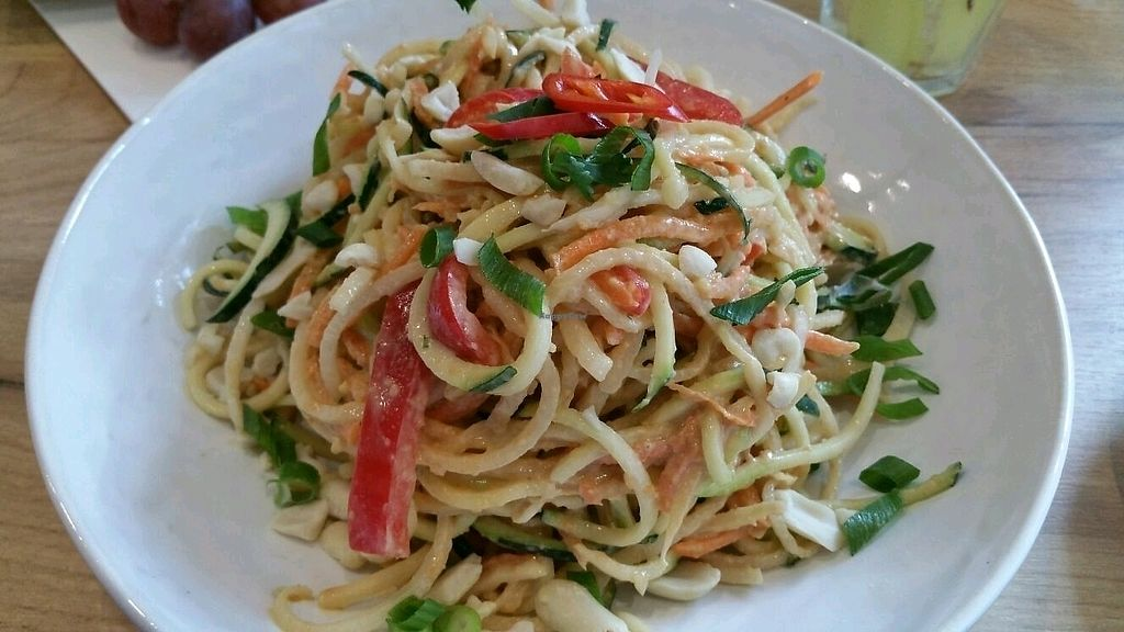 """Photo of SUE  by <a href=""""/members/profile/mostlyvegan75"""">mostlyvegan75</a> <br/>Cold Pad Thai salad <br/> November 19, 2017  - <a href='/contact/abuse/image/69214/327117'>Report</a>"""