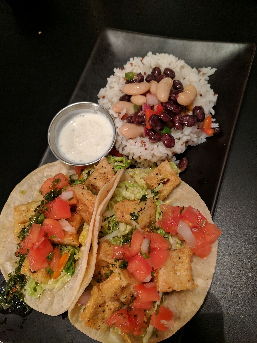 """Photo of Avenue Waterfront Grille  by <a href=""""/members/profile/ehauler%40gmail.com"""">ehauler@gmail.com</a> <br/>Vegan GF tacos with crispy tofu <br/> July 29, 2017  - <a href='/contact/abuse/image/69257/286025'>Report</a>"""