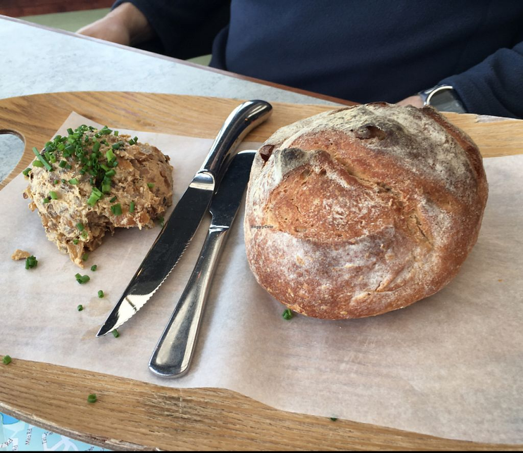 """Photo of Thomas's Bach  by <a href=""""/members/profile/AimeeS"""">AimeeS</a> <br/>Potato cob sourdough and vegan onion dip <br/> May 15, 2017  - <a href='/contact/abuse/image/69262/258885'>Report</a>"""