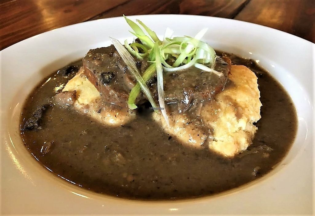 """Photo of CLOSED: Reverie Cafe and Bar  by <a href=""""/members/profile/Laura1G2C"""">Laura1G2C</a> <br/>Biscuits and Gravy with Herbivorous Butcher Sausage <br/> February 25, 2017  - <a href='/contact/abuse/image/69266/230362'>Report</a>"""