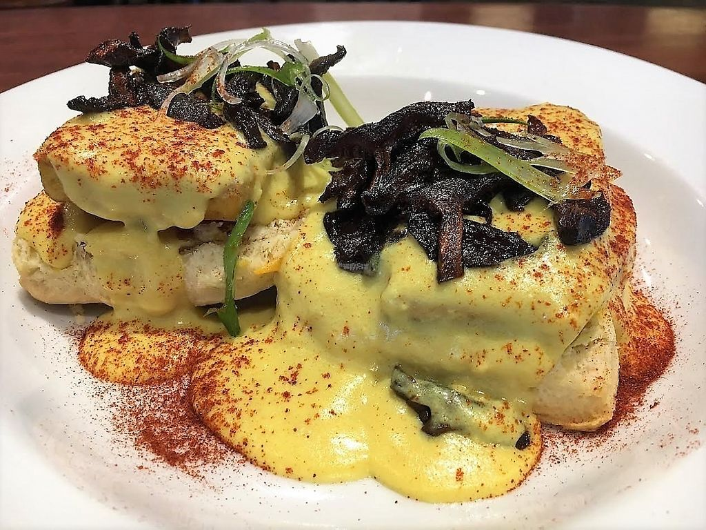 """Photo of CLOSED: Reverie Cafe and Bar  by <a href=""""/members/profile/Laura1G2C"""">Laura1G2C</a> <br/>Mushroom Benedict <br/> February 25, 2017  - <a href='/contact/abuse/image/69266/230363'>Report</a>"""