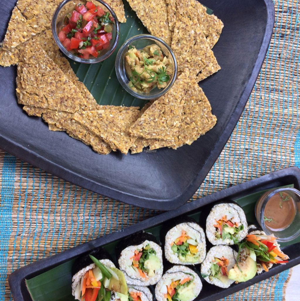 """Photo of Ma Cafe  by <a href=""""/members/profile/sammyboycebal"""">sammyboycebal</a> <br/>the raw corn chips and sushi roll  <br/> December 27, 2016  - <a href='/contact/abuse/image/69274/204923'>Report</a>"""