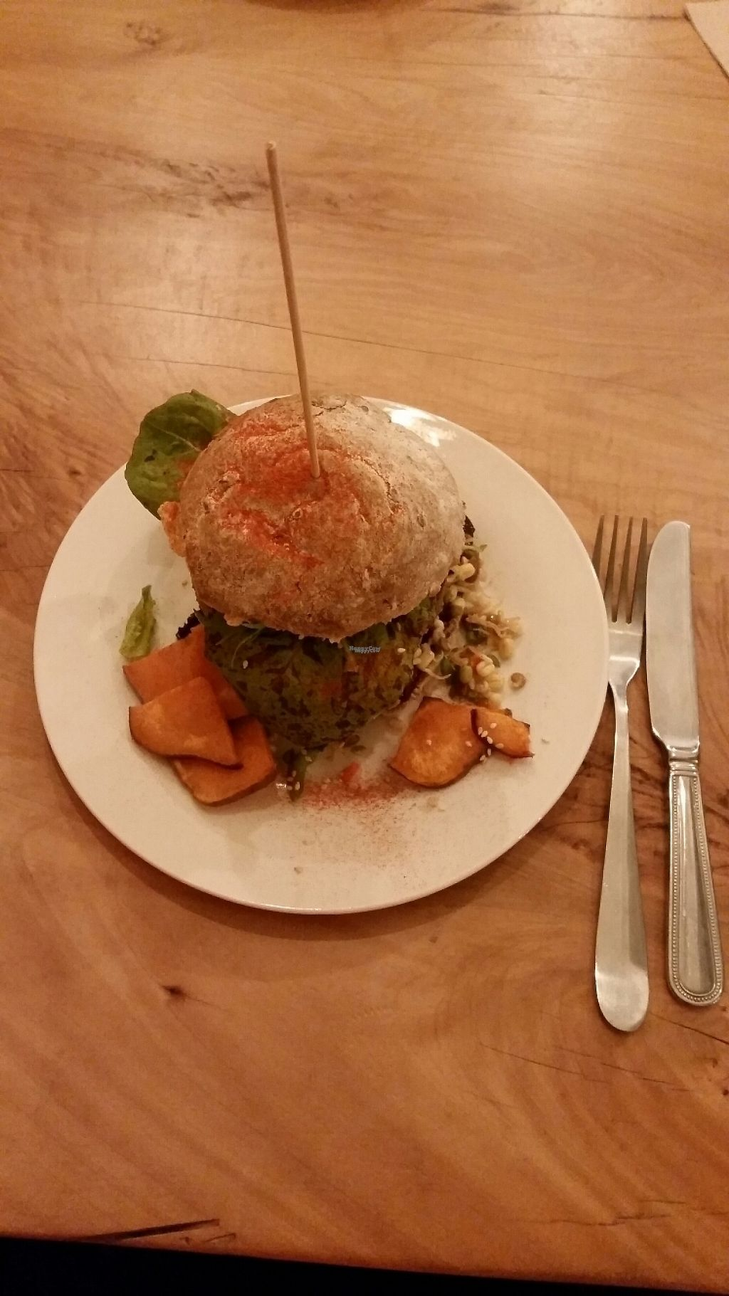 "Photo of CLOSED: Naturalley Organic Cafe  by <a href=""/members/profile/AndyTheVWDude"">AndyTheVWDude</a> <br/>Health Burger $15....Tasty! <br/> November 9, 2016  - <a href='/contact/abuse/image/69280/187603'>Report</a>"
