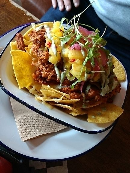 """Photo of Lucky Pig at Paradise Palms  by <a href=""""/members/profile/craigmc"""">craigmc</a> <br/>jackfruit nachos <br/> June 25, 2017  - <a href='/contact/abuse/image/69294/273286'>Report</a>"""