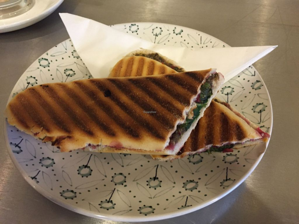 """Photo of Fox Cafe  by <a href=""""/members/profile/Chris_D"""">Chris_D</a> <br/>Vegan panini <br/> May 31, 2016  - <a href='/contact/abuse/image/69299/151549'>Report</a>"""