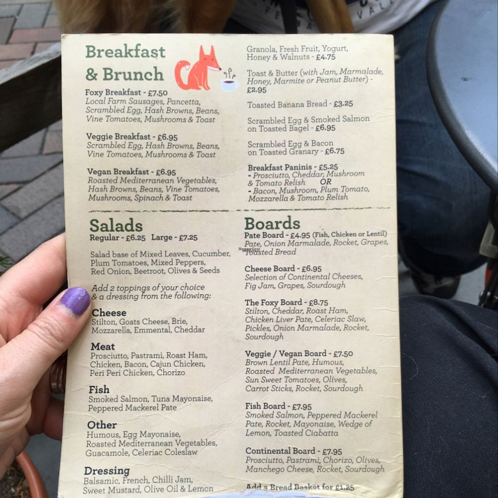 """Photo of Fox Cafe  by <a href=""""/members/profile/radiocaz"""">radiocaz</a> <br/>part of the menu that wasn't sandwiches <br/> August 23, 2016  - <a href='/contact/abuse/image/69299/171005'>Report</a>"""