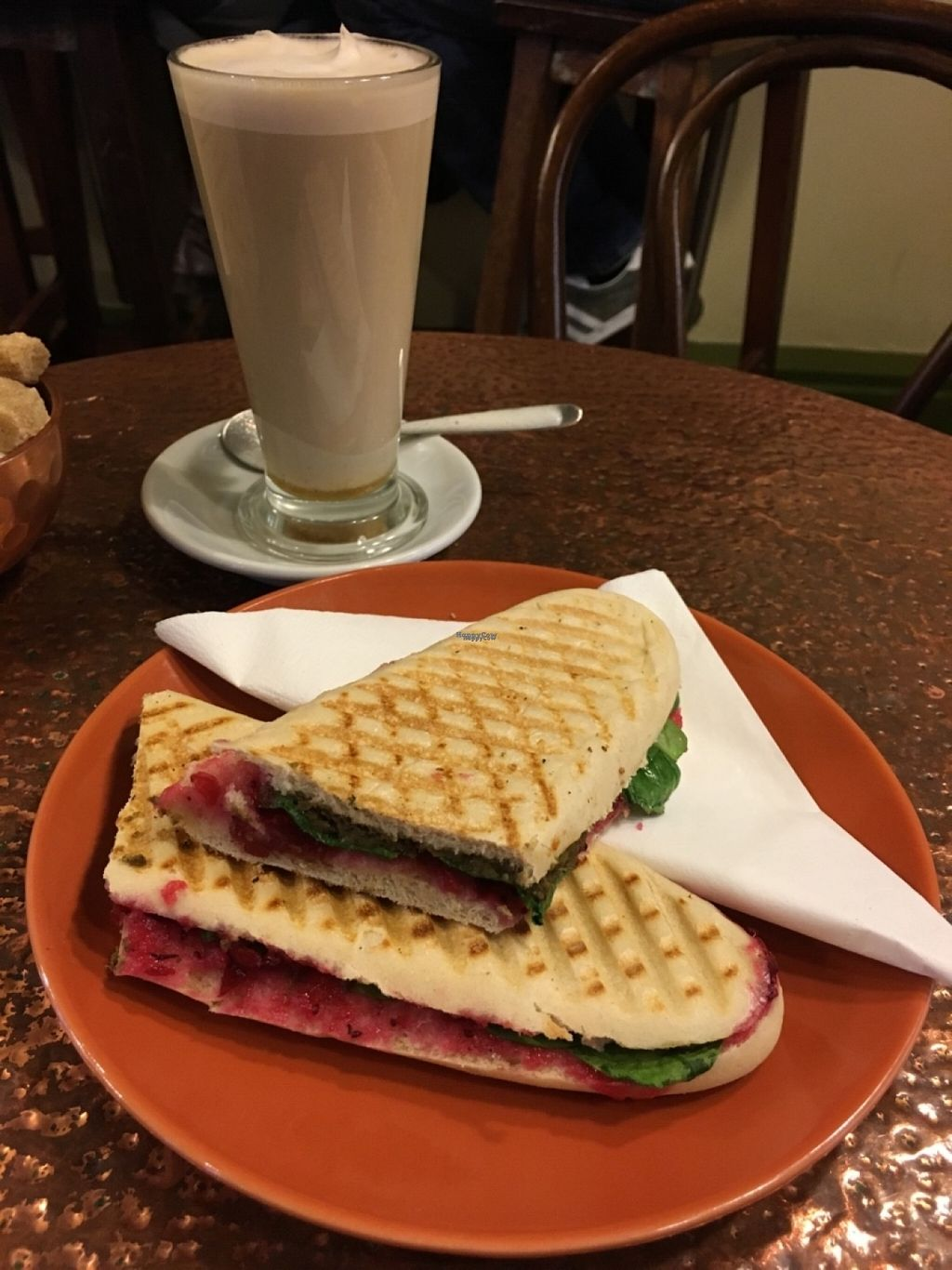 """Photo of Fox Cafe  by <a href=""""/members/profile/Libra77"""">Libra77</a> <br/>Lentil panini <br/> October 30, 2016  - <a href='/contact/abuse/image/69299/185973'>Report</a>"""