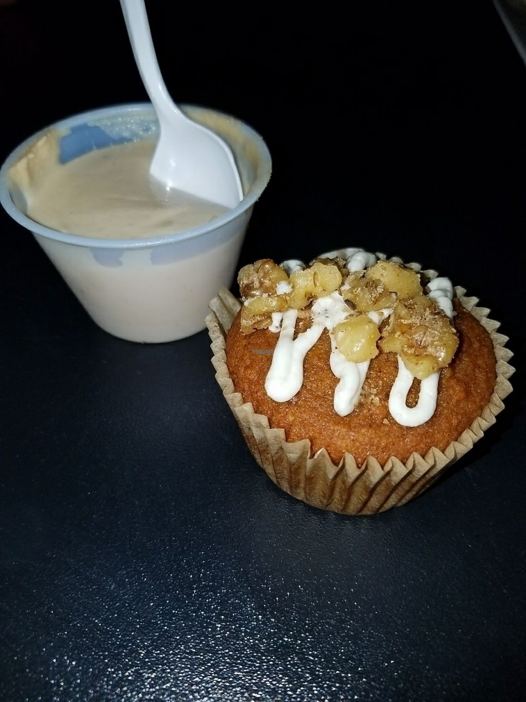 """Photo of El Punto Vegano  by <a href=""""/members/profile/RobertNava"""">RobertNava</a> <br/>Cashew pudding and Carrot cup cake <br/> April 21, 2017  - <a href='/contact/abuse/image/69301/250750'>Report</a>"""